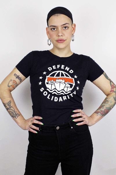 T-Shirt Defend Solidarity Women Navy